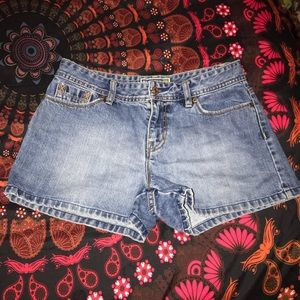 Low Rise Jean Shorts